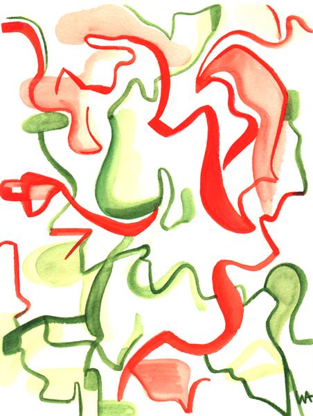 Amazon, William Ankone 1999 (watercolours)