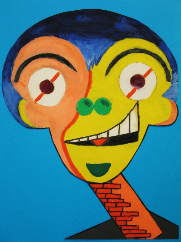 Donkey Monkey, William Ankone 1978 (oil on paper)