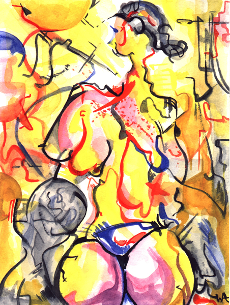Loved by the Sun, William Ankone 1999 (watercolours)