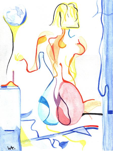 Room, William Ankone 2002 (watercolours on paper)