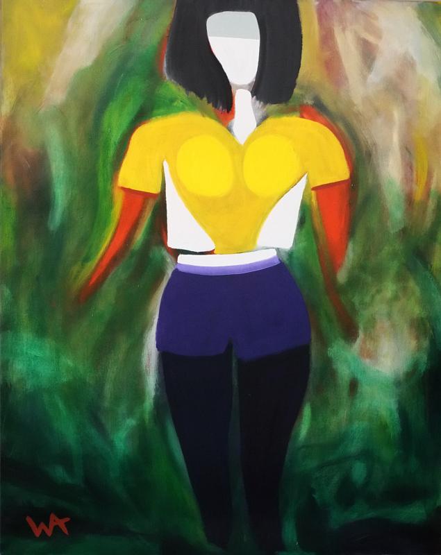 The Walk, William Ankone 1996 (oil on canvas)
