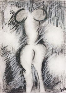 Femina Obscura, William Ankone 1996 (mixed media on paper)