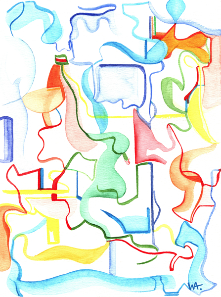 untitled, William Ankone 2002 (watercolors on paper)