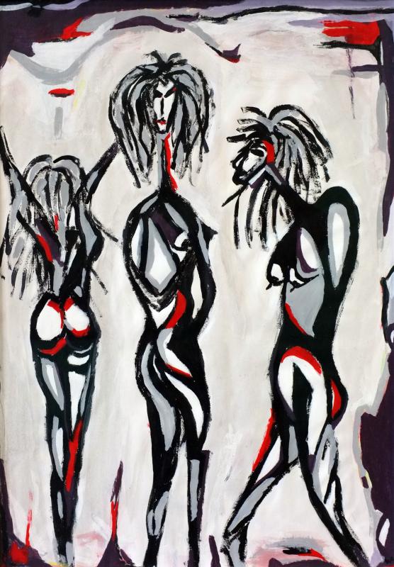 Women, William Ankone 1986 (acrylic on paper)