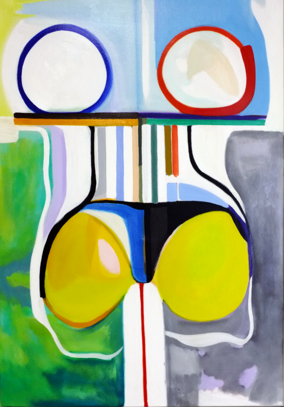 Interface, William Ankone 1995 (oil on canvas)