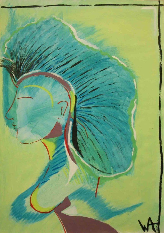 Queen of the Rainforest, William Ankone 1986 (acrylic on paper)