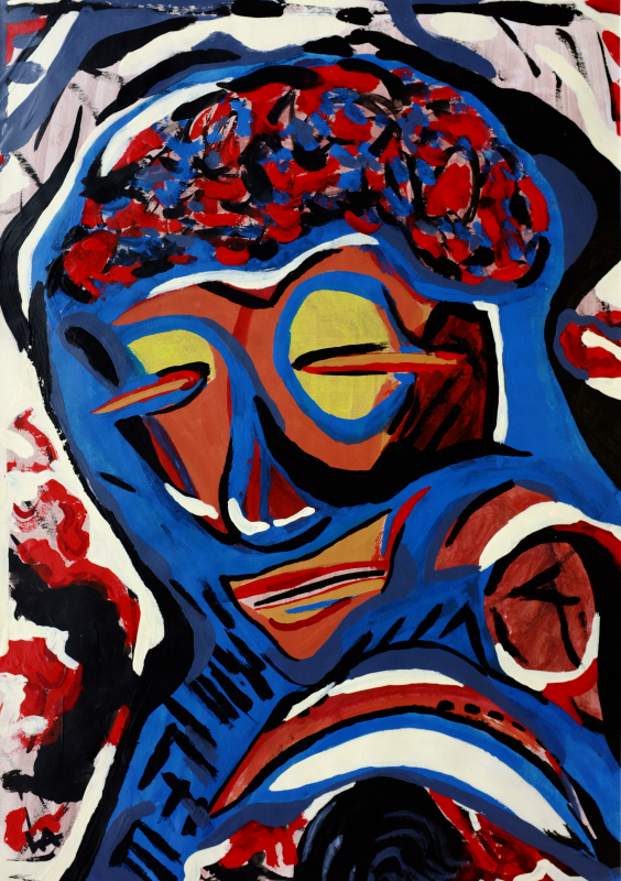 The Nomad, William Ankone 1986 (acryl on paper)