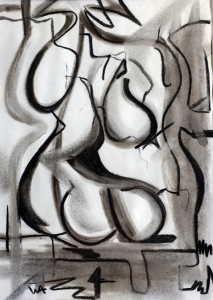 Untitled, William Ankone 1997 (charcoal on paper)